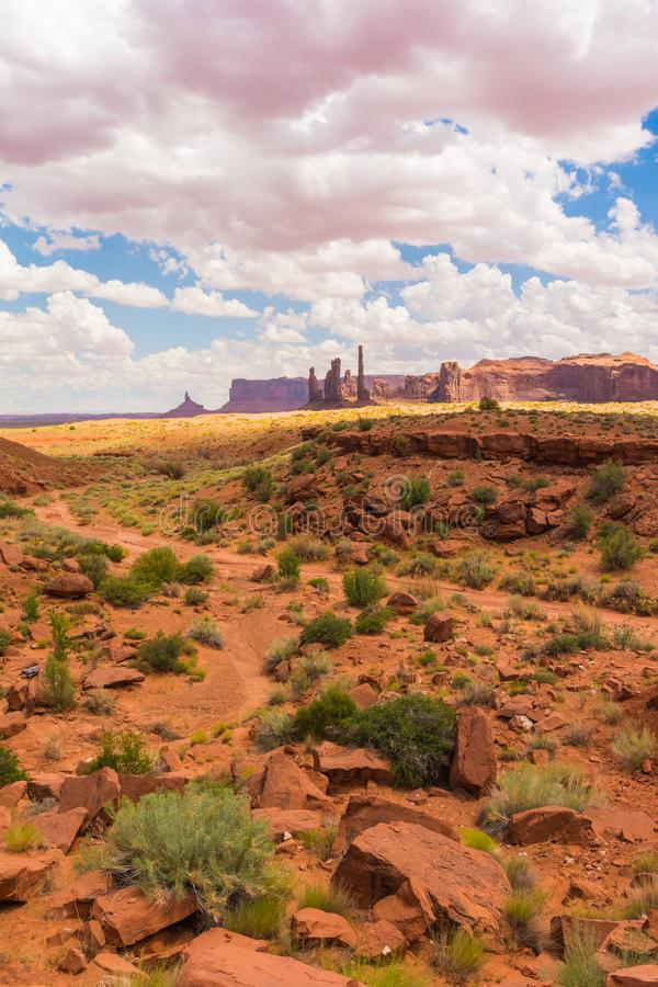 Monument Valley on the border between Arizona and Utah. USA royalty free stock image