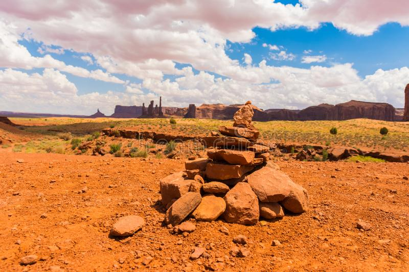 Monument Valley on the border between Arizona and Utah. USA royalty free stock photos