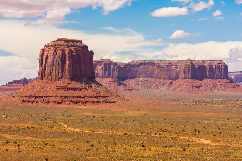 Monument Valley on the border between Arizona and Utah. USA stock photography