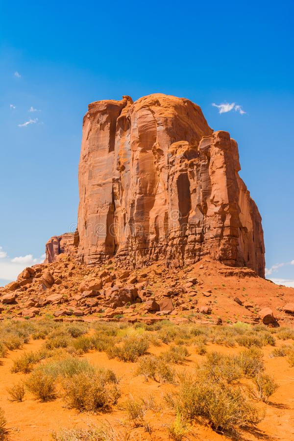 Monument Valley on the border between Arizona and Utah. USA stock image