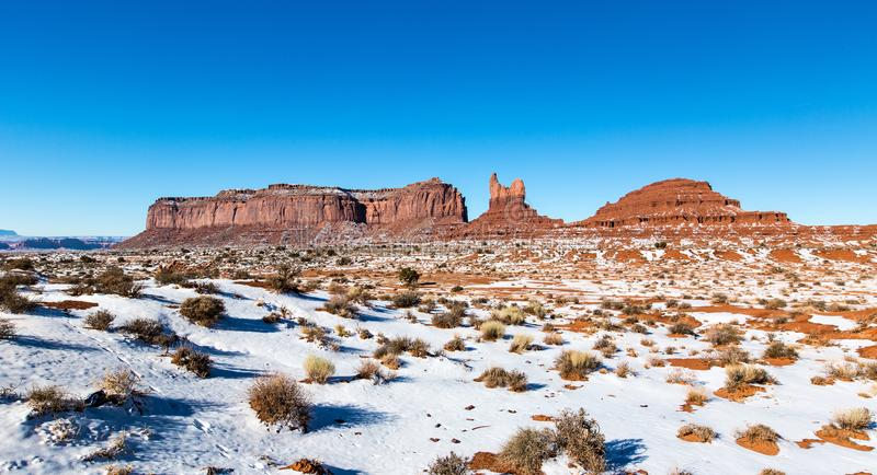 Monument Valley on the border between Arizona and Utah in United stock image