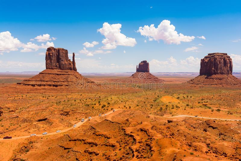 Monument Valley on the border between Arizona and Utah. USA royalty free stock photo