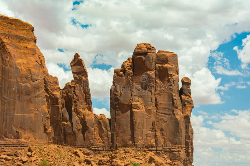 Monument Valley on the border between Arizona and Utah. USA stock images