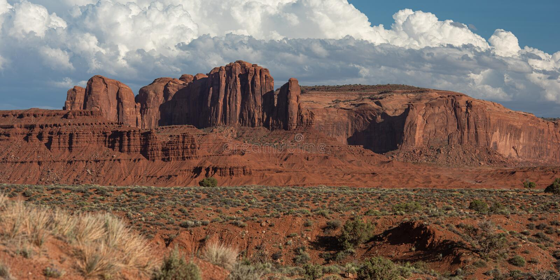 Monument Valley Cloudburst royalty-vrije stock foto