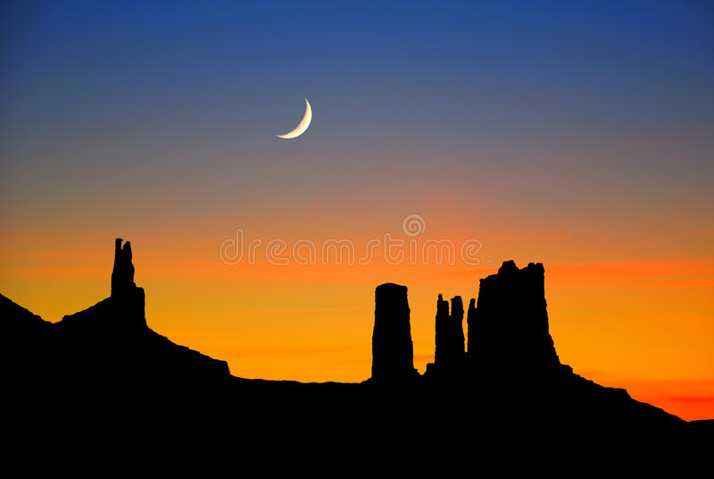 Monument Valley dusk stock image