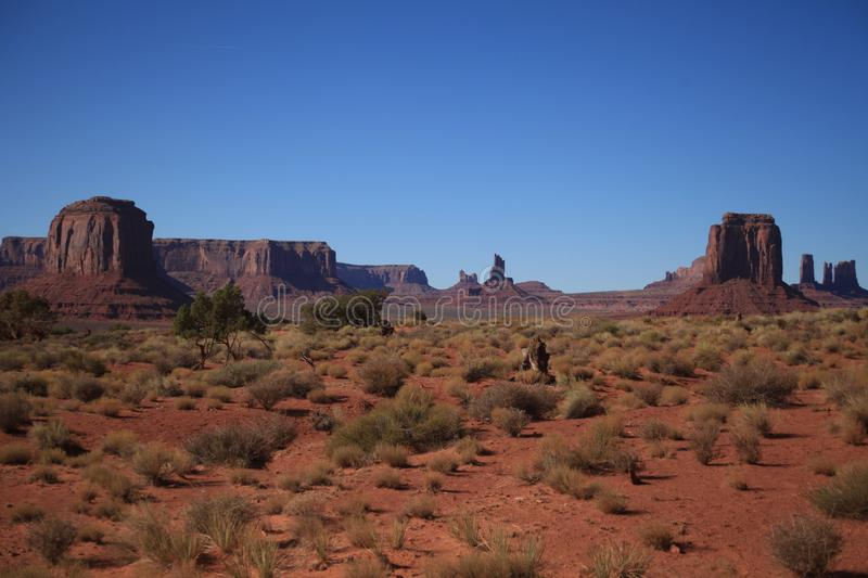 Monument Valley landscape. And another angle for Monument Valley again royalty free stock image