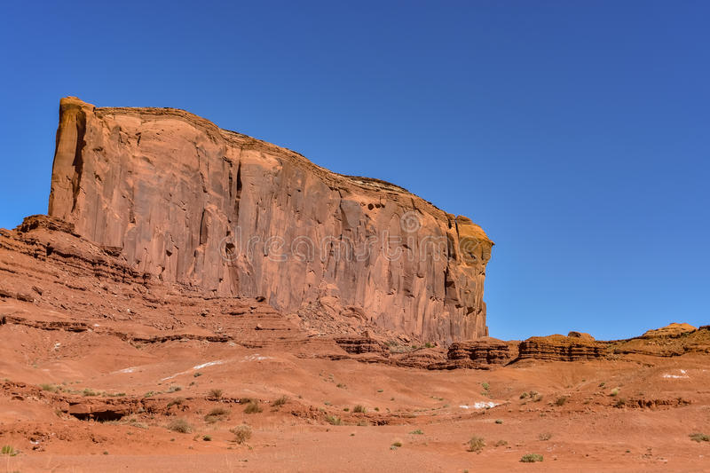 Monument Valley Navajo Tribal Park. The famous Monument Valley Navajo Tribal Park at Utah, U.S.A stock photo