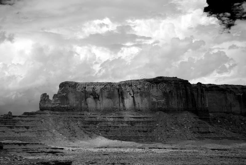 Black and White Monument Valley Arizona USA Navajo Nation. Monument Valley north east Arizona Navajo Nation USA black and white royalty free stock photos
