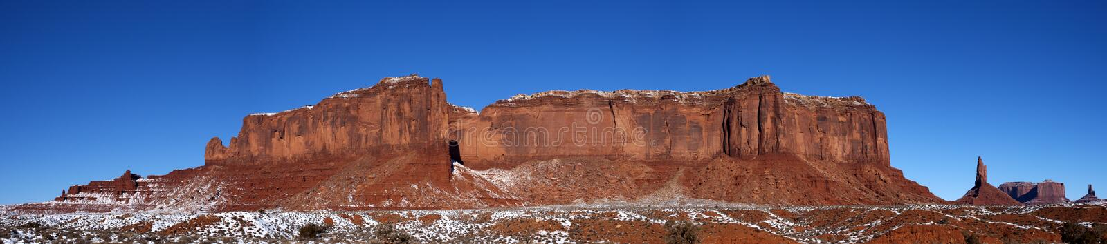 Monument Valley Panorama Ridge, Mountains, Snow stock photography