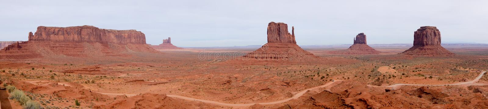 Monument Valley Park. The Buttes in the Park of Monument Valley stock photography