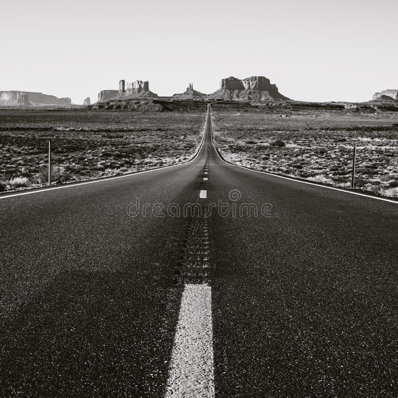 Monument valley road stock photos