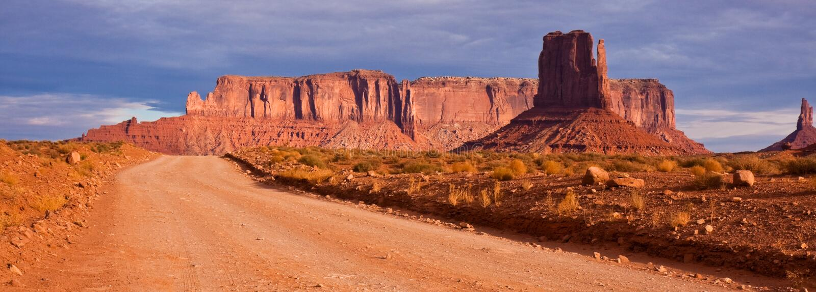 Download Monument Valley Road Panorama Stock Image - Image: 12115775