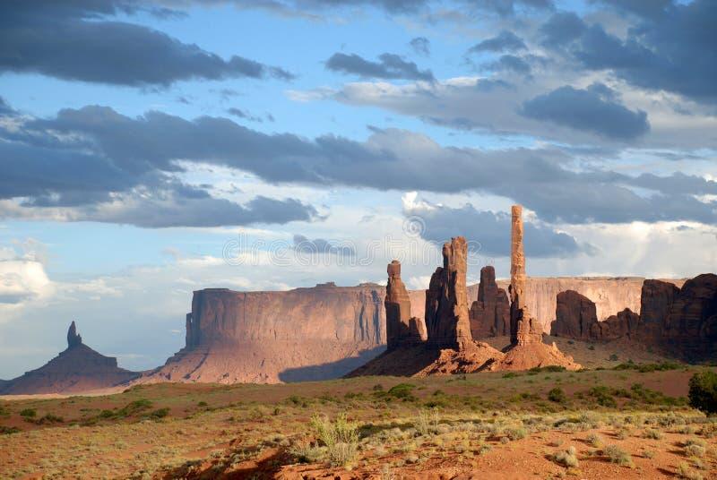 Monument Valley scene stock image