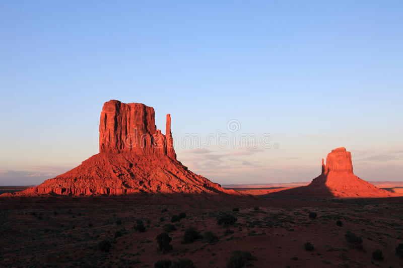 Download Monument valley at sunset stock image. Image of landscapes - 14847309