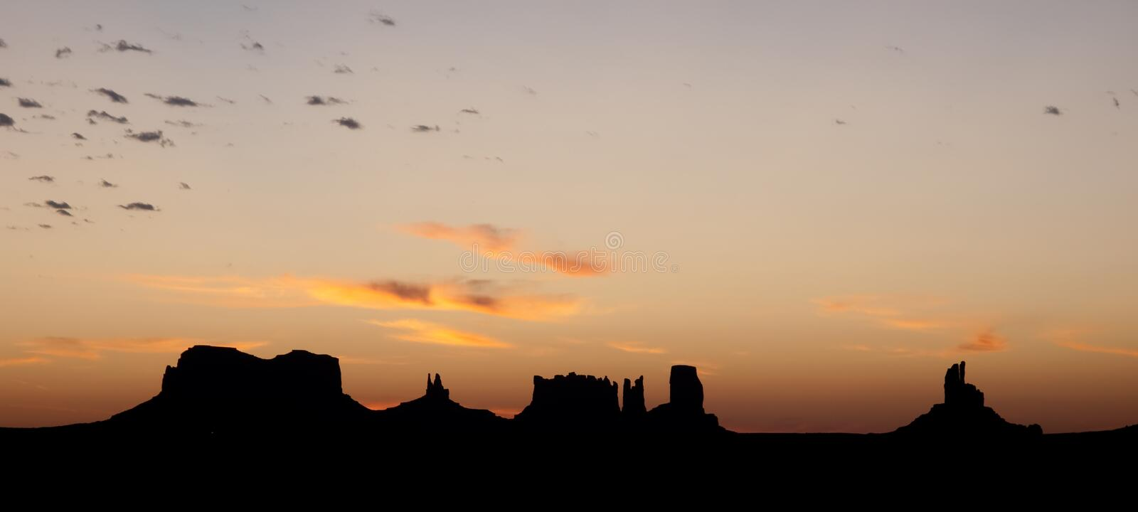 Download Monument valley sunset stock photo. Image of american - 16530860