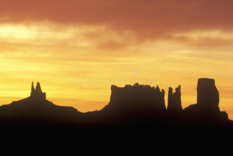 Monument Valley Tribal Park. At Sunrise, Arizona stock photos
