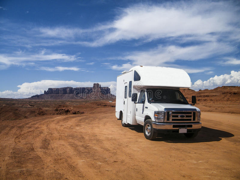 Monument Valley, Utah, United States - July 2011: A campervan in Monument Valley. A campervan in Monument Valley, Utah, United States - July 2011 royalty free stock photo
