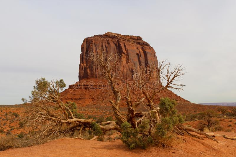 Monument Valley Western View - Cloudy Sky stock images