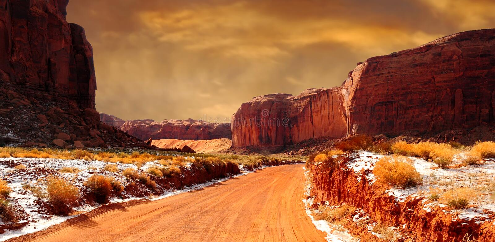 Monument Valley Winter stock images