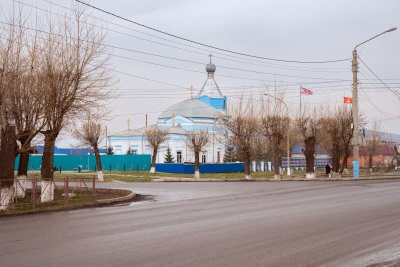 Monument van antiquiteit - wit-Blauwe kerk van de heilige apostelen Peter en Paul 1824 royalty-vrije stock foto