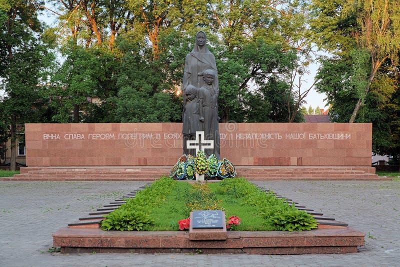 Monument van Bekendheid in ivano-Frankivsk, de Oekraïne stock fotografie