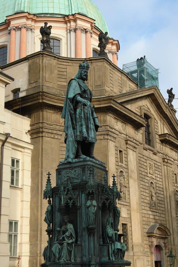 Monument van Charles IV royalty-vrije stock foto