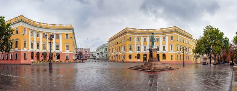 Monument van de Duke of Richelieu Prymorskyi bulvar, Odesa, Oekraïne royalty-vrije stock foto's