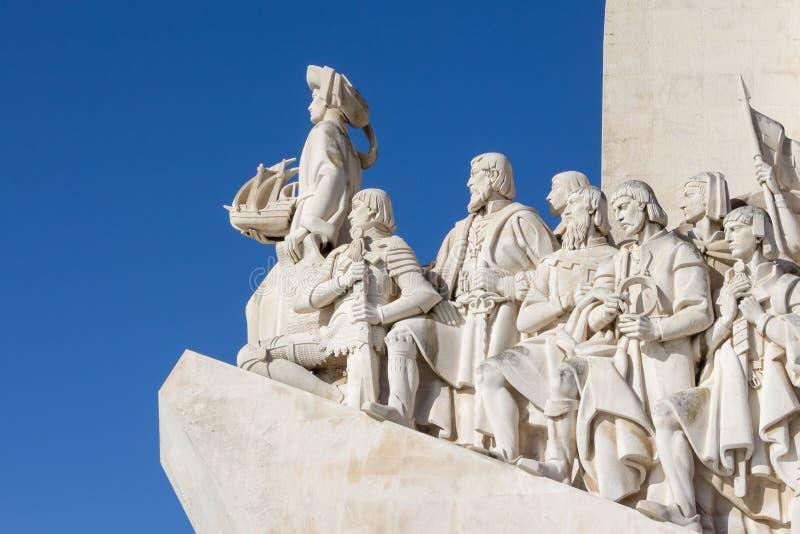 Monument van de Ontdekkingen, Lissabon, Portugal - Maart 3, 2016: stock foto's