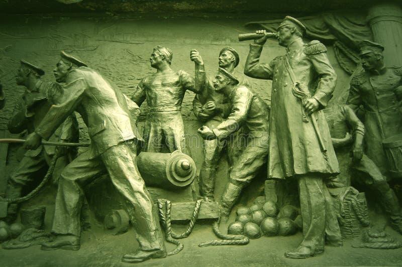 Monument van de Oorlog van het detail het Krim. Sebastopol royalty-vrije stock foto