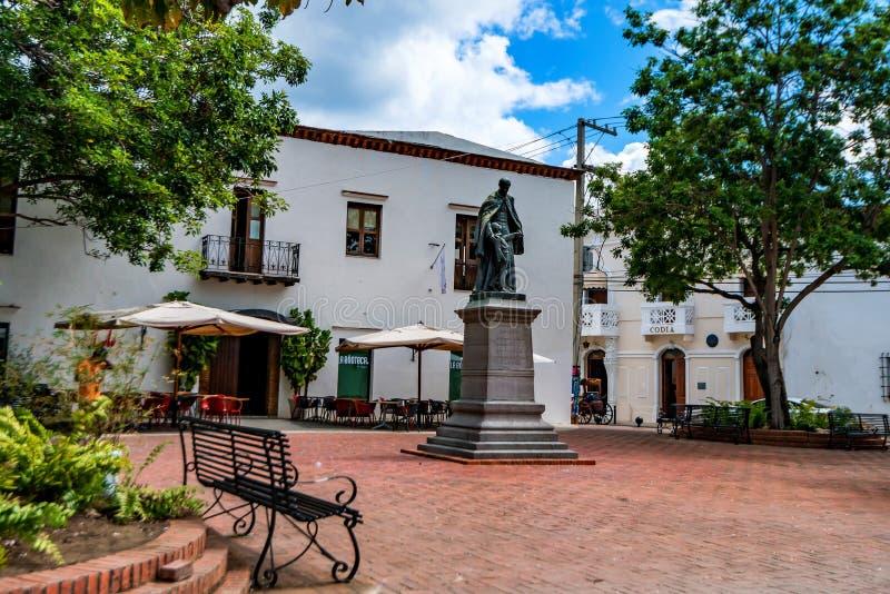 Monument van Don Francisco Billini in Santo Domingo royalty-vrije stock fotografie