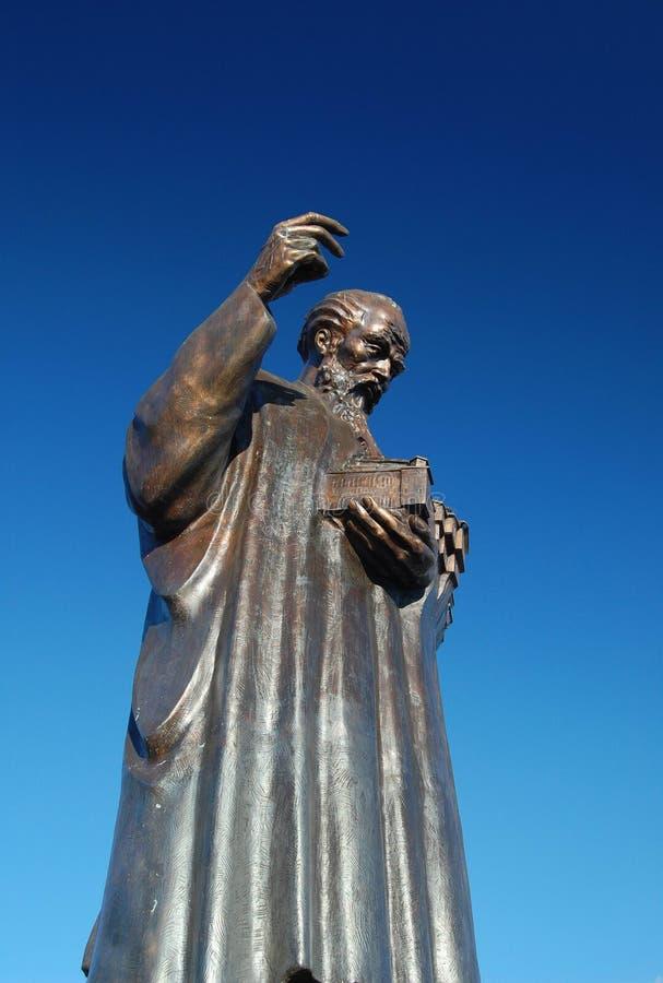 Monument van heilige Mild in Ohrid, Macedonië royalty-vrije stock foto