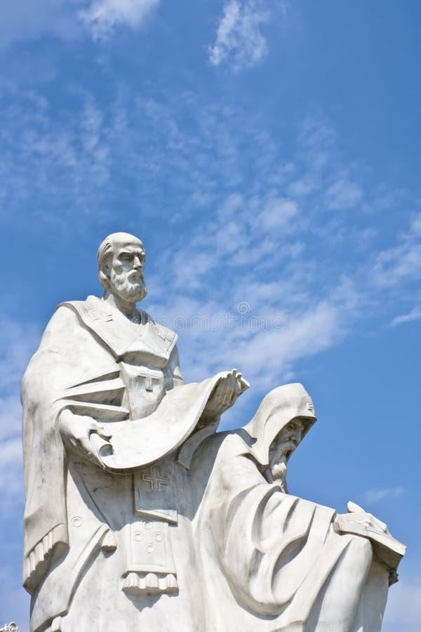 Monument van Heiligen Cyril en Methodius stock fotografie