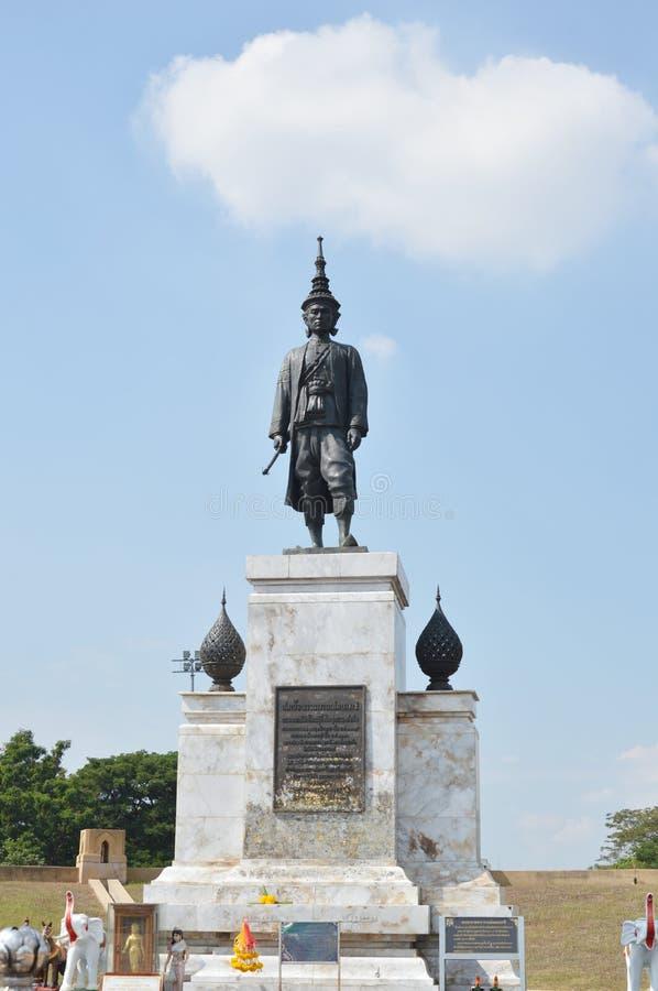 Monument van Koning Narai zijn majesteitsinitiatief om tot diplomatie en handel aan Europa te maken stock foto
