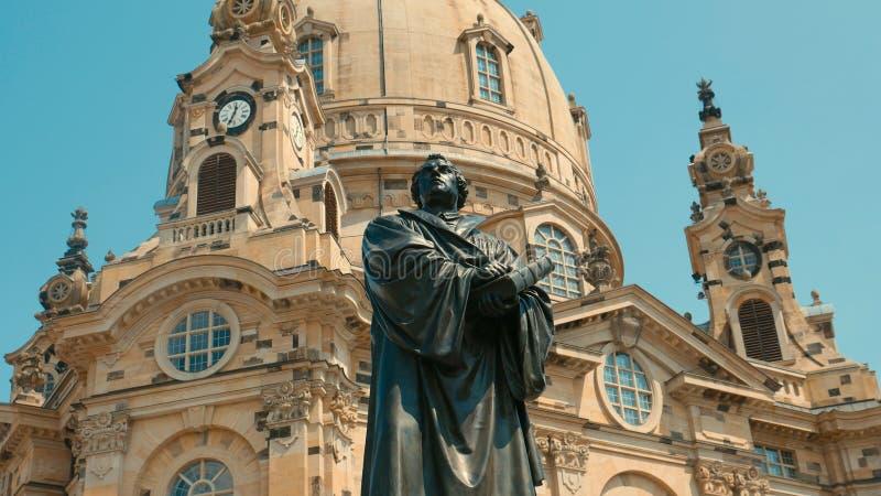Monument van Martin Luther - de stichter van de Hervorming E stock foto