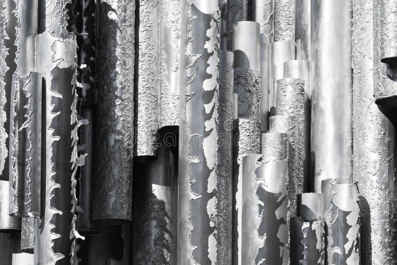 Monument van roestvrij staalbuizen royalty-vrije stock foto's