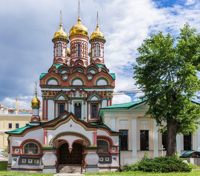 Monument van Russische architectuur van de 17de eeuw in Moskou stock afbeelding