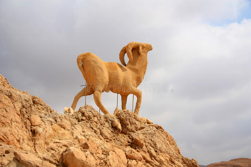 Monument van schapen, chebika, Tunesië royalty-vrije stock foto's