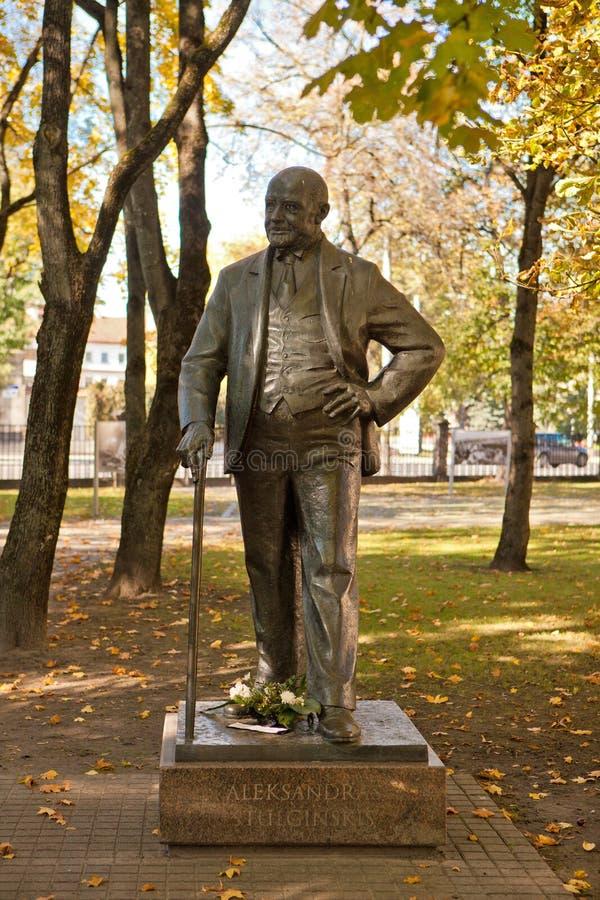 Monument van voorzitter Aleksandras Stulginskis royalty-vrije stock foto