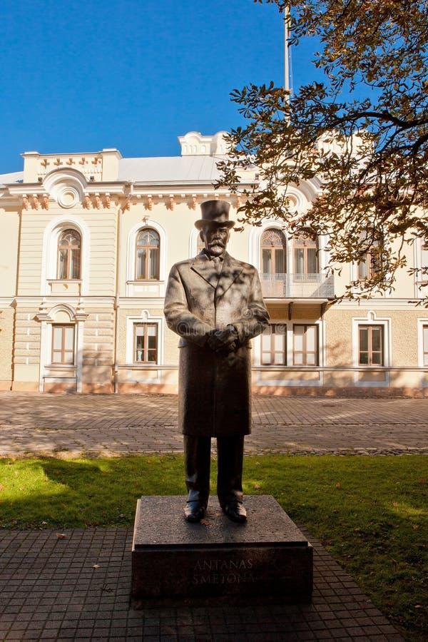 Monument van voorzitter Antanas Smetona stock afbeeldingen