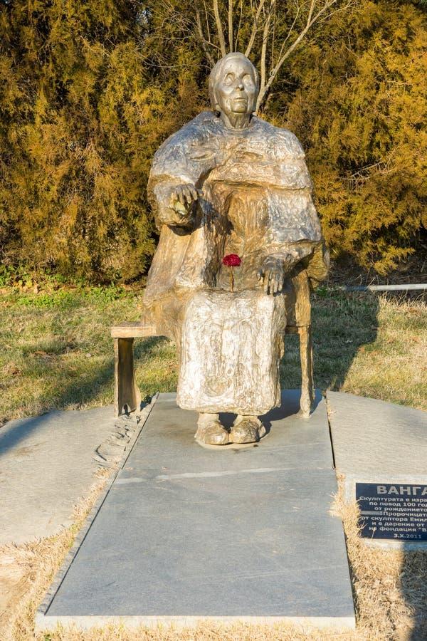 Monument Vanga dans Rupite, Bulgarie, décembre image libre de droits
