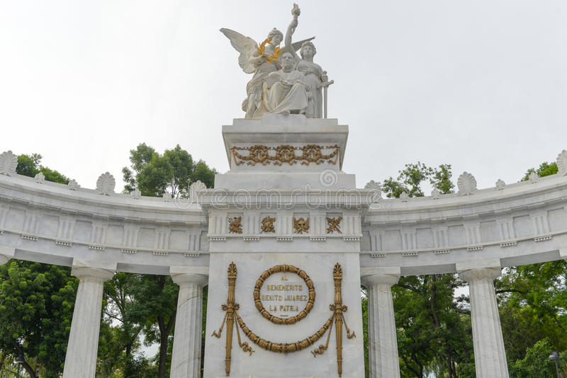 Monument vers Benito Juarez - Mexico image stock