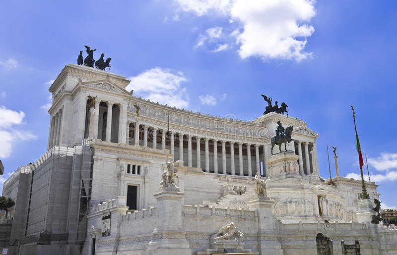 Monument Of Victor Emmanuel II Stock Images