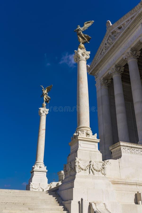 Monument Vittoriano Vittorio Emanueles II in Rom, Italien lizenzfreies stockfoto