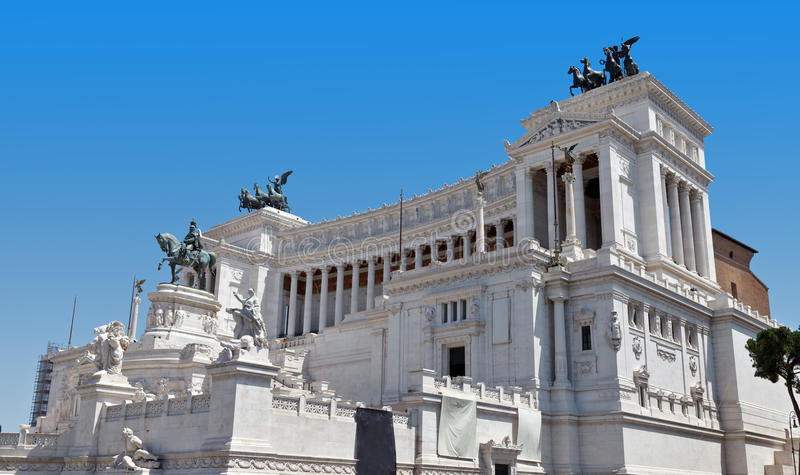 Monument Vittorio Emanuele II stock afbeeldingen