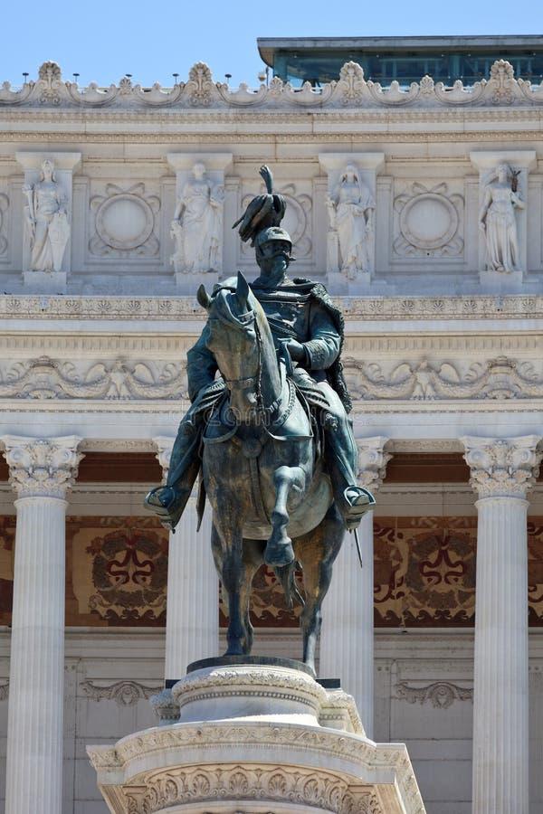 Monument Vittorio Emanuele II royalty-vrije stock foto's