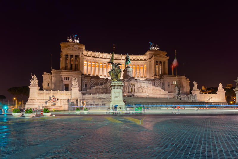 Monument of Vittorio Emanuele II in Rome Italy royalty free stock images