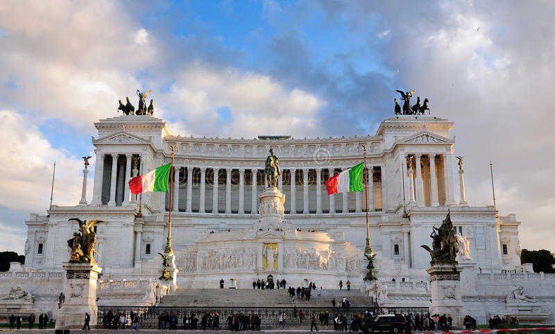 Monument of Vittorio Emmanuel, Rome stock photography