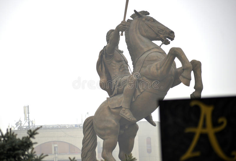 Monument von Alexander The Great lizenzfreies stockbild