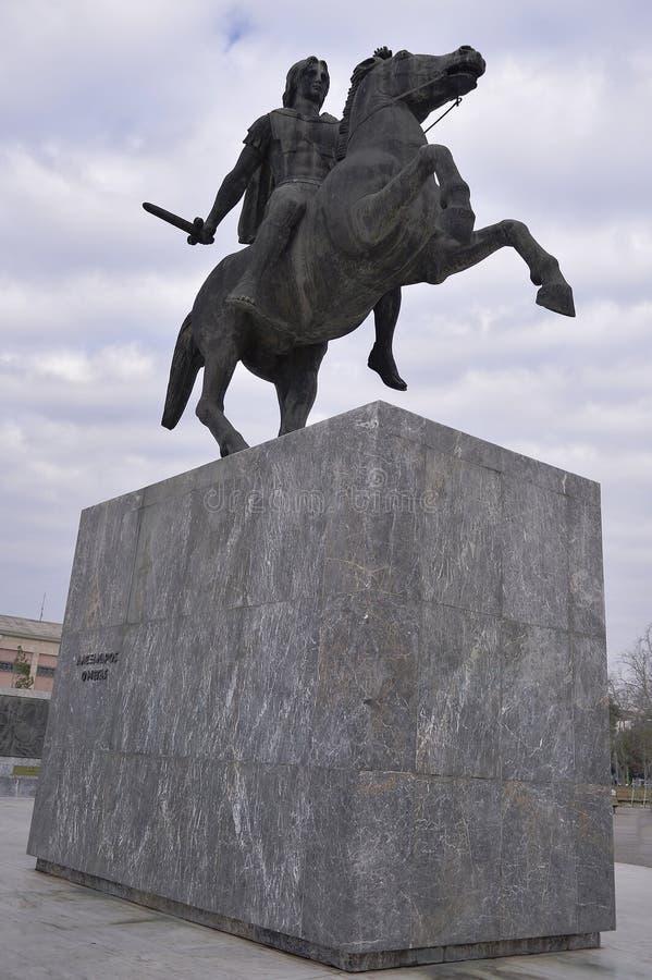 Monument von Alexander The Great, Saloniki, Griechenland lizenzfreies stockfoto