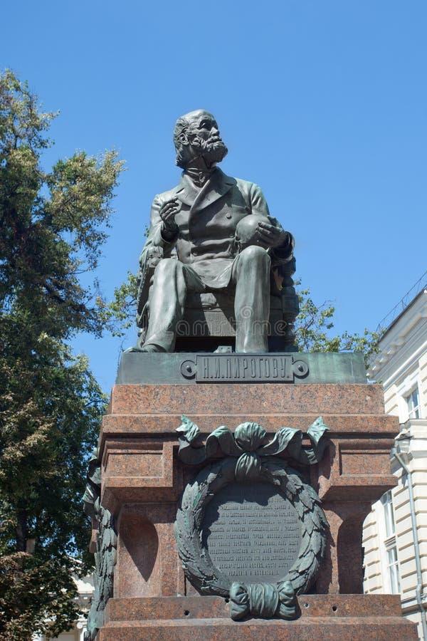 Monument von N I Pirogov - der große Wissenschaftler, der Lehrer und das doct stockbilder